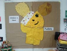 Pudsey Bear Visits Nursery To Raise Money For Children In Need