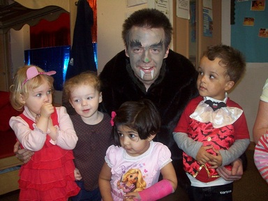 Halloween at the Pre-school Learning Alliance with Christopher Dean, nursery assistant