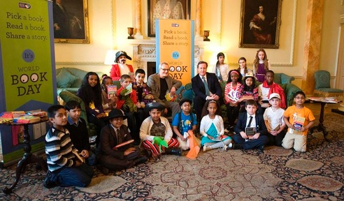 PM David Cameron attends last year's World Book Day