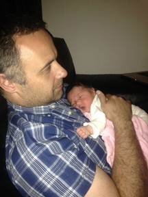 Alex Meazzini, managing director of EYP Direct, with his baby daughter Cara