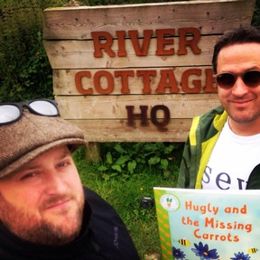Ian Hamilton and Sam Frith at River Cottage HQ
