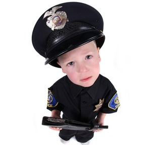 Boy kept returning to playhouse dressed as a policeman