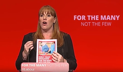 Shadow education secretary Angela Rayner speaking at  Labour party's 2017 annual conference