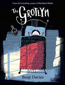 Grotlyn cover. Credit: Benji Davies and HarperCollins Children's Books