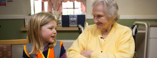 Nursery bridges the generational gap with heartwarming visits to care home